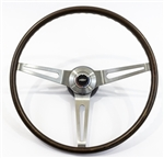 1969 Camaro Steering Wheel Assembly, Walnut Woodgrain, Original GM Used