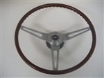 1969 Camaro Steering Wheel Assembly, Rosewood Woodgrain, Original GM Used