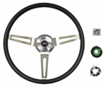 1967 - 1989 Camaro NK1 Small Comfort Grip Steering Wheel Kit, Black with Silver Spokes