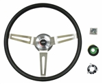 1967 - 1989 Steering Wheel Kit, Comfort Grip, Black 15 Inch Diameter
