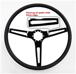 1967 - 1989 Camaro Custom Black Spoke Comfort Grip Steering Wheel