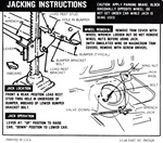 1968 Instruction Information Decal, Trunk Jack, Coupe SS 3947628