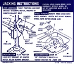 1969 Instruction Information Decal, Trunk Jacking, Convertible 3949513