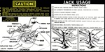 1974 Instruction Information Decal, Trunk Jack, Space Saver 341039