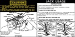 1976 - 1977 Instruction Information Decal, Trunk Jack, Regular Spare 356617