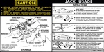 1978 - 1979 Camaro Instruction Information Decal, Trunk Jack, Regular Spare 459158