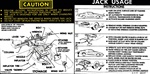 1978 - 1979 Instruction Information Decal, Trunk Jack, Space Saver 459157
