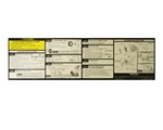 1991 - 1992 Camaro Trunk Jacking Instruction Information Decal, 14098162