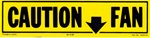 1981 - 1982 Caution Fan Decal, Yellow and Black, 14030122