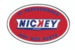 """ NICKEY "" Hi Preformance Hot Rod Parts Decal 6"" Wide"