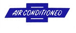 Window Decal, Chevrolet Bowtie Air Conditioned, Blue