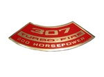 1967 - 1981 Air Cleaner Decal, 307 Turbo Fire 200 HP