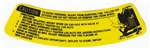 Camaro Trunk Space Saver Spare Tire Instruction Caution Information Decal, L-98