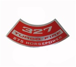 Air Cleaner Decal, 327 Turbo-Fire 275 HP