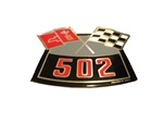Air Cleaner Decal, 502 Cross Flags