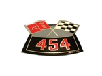 454 Crossed Flags Air Cleaner Decal