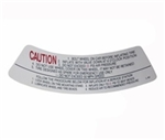 1967 - 1972 Camaro Space Saver Wheel Rim Caution Decal