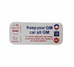 1971 - 1972 Air Cleaner Decal, Keep Your GM Car All GM, CJ ~ 6485891