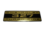 1967 - 1969 Valve Cover Decal, Chevrolet 327 Turbo-Fire