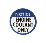 1978 - 1982 Decal, Engine Coolant Only Notice
