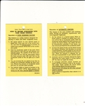 1967 - 1969 Instruction Information Tag, Cruise Control