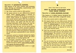 1970 - 1974 Instruction Information Tag, Cruise Control
