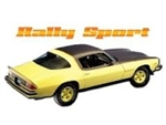 1976 - 1977 Rally Sport Body Fenders / Spoiler Decal - Black , Set 3