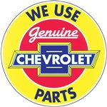 Decal, Genuine Chevrolet Parts, 8 Inch Diameter