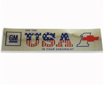 Decal, Bumper Sticker, See The USA In Your Chevrolet