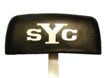 1969 Yenko SYC Camaro Headrest Decal Set White, Pair