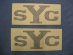 1969 Yenko Headrest Decals Pair, Black