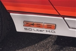 "1983 - 1986 Rocker Panel Decals, ""5.0 Liter H.O."""