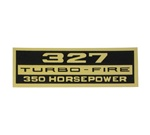 Valve Cover Decal, 327 Turbo-Fire 350 HP
