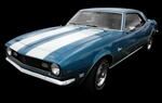 1967 - 1968 Camaro Z28 Stencil Stripe Kit for Hood and Trunk Deck Lid