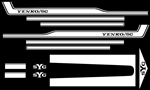 1969 YENKO Camaro Decal Stripe Set, White