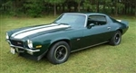 1970 - 1972 Camaro Z28 Stencil Stripe Set Except Rally Sport with Tall Rear Spoiler, Straight Rear