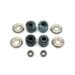 1967 - 1969 Shock Mounting Hardware Set, Rear Upper: Bushings, Washers, and Stud Nuts, 10 Pieces