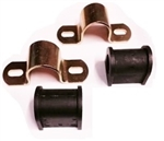 1967 - 1981 Sway Bar Bushing Brackets with Bushings Set, Front, 1 Inch