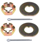 1967 - 1969 Camaro Spindle Nut & Washer Kit, 6 Pieces