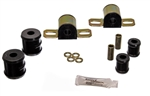 1967 - 1981 Camaro BLACK Polyurethane Rear Sway Bar Bracket/Bushing Kit, 11/16 Inch Diameter