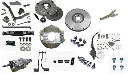 1969 Camaro 4 Speed Muncie Transmission Conversion Kit, Choice of M20, M21,  or M22 Rock Crusher