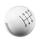 Shifter Knob in White, 6 Speed, Stock Handle Size 16 MM x 1.50