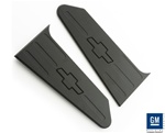 2010-2011 Camaro Trunk Plate Covers, GM Licensed - Black Powder-Coated