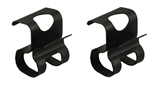 1970 - 1973 Camaro Trunk Tail Light Panel Gutter Wire Harness Clips, Pair