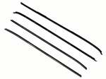1970 - 1981 Camaro Windowfelts Set, Round Bead Outer And Flat Inners, 4 Piece Kit