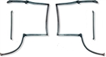 1982 - 1992 Camaro T-Top Rubber Weatherstrip Seal Set, 4 Piece