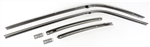 1968 - 1969 Camaro Roof Rail Weather Strip Channels Set, Stainless Steel