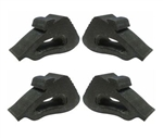 1982 - 1992 Camaro Hood Side Rubber Bumper Stopper Kit, 4 Piece Set 10017997