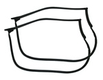 1993 - 2002 Camaro Door Frame Rubber Weatherstripping Coupe Hardtop, Pair