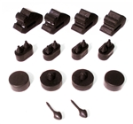 1970 - 1981 Camaro Rubber Body Bumper Stopper Kit, 14 Pieces